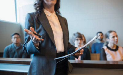 presenting case in a courtroom
